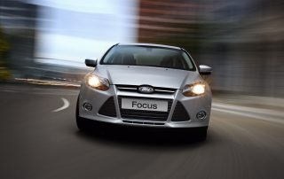 2013 Ford Focus: Ford's best-selling Focus continues the tradition of class-leading dynamics, safety and outstanding value in either four-door sedan or five-door hatchback bodystyle. (06/27/12)